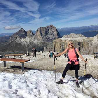 Trekking to Mount Piz Boè in the Sella Massif