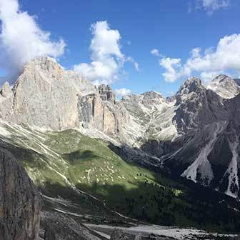 Trekking to Passo Cigolade in the Catinaccio