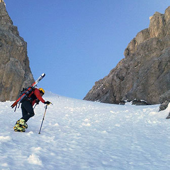 Ski Mountaineering to Forcella del Laghet from Passo San Pellegrino