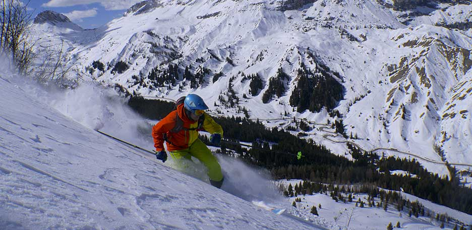 Off-Piste Skiing at the Marmolada