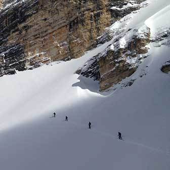Ski Mountaineering to Sass de Putia, East Side