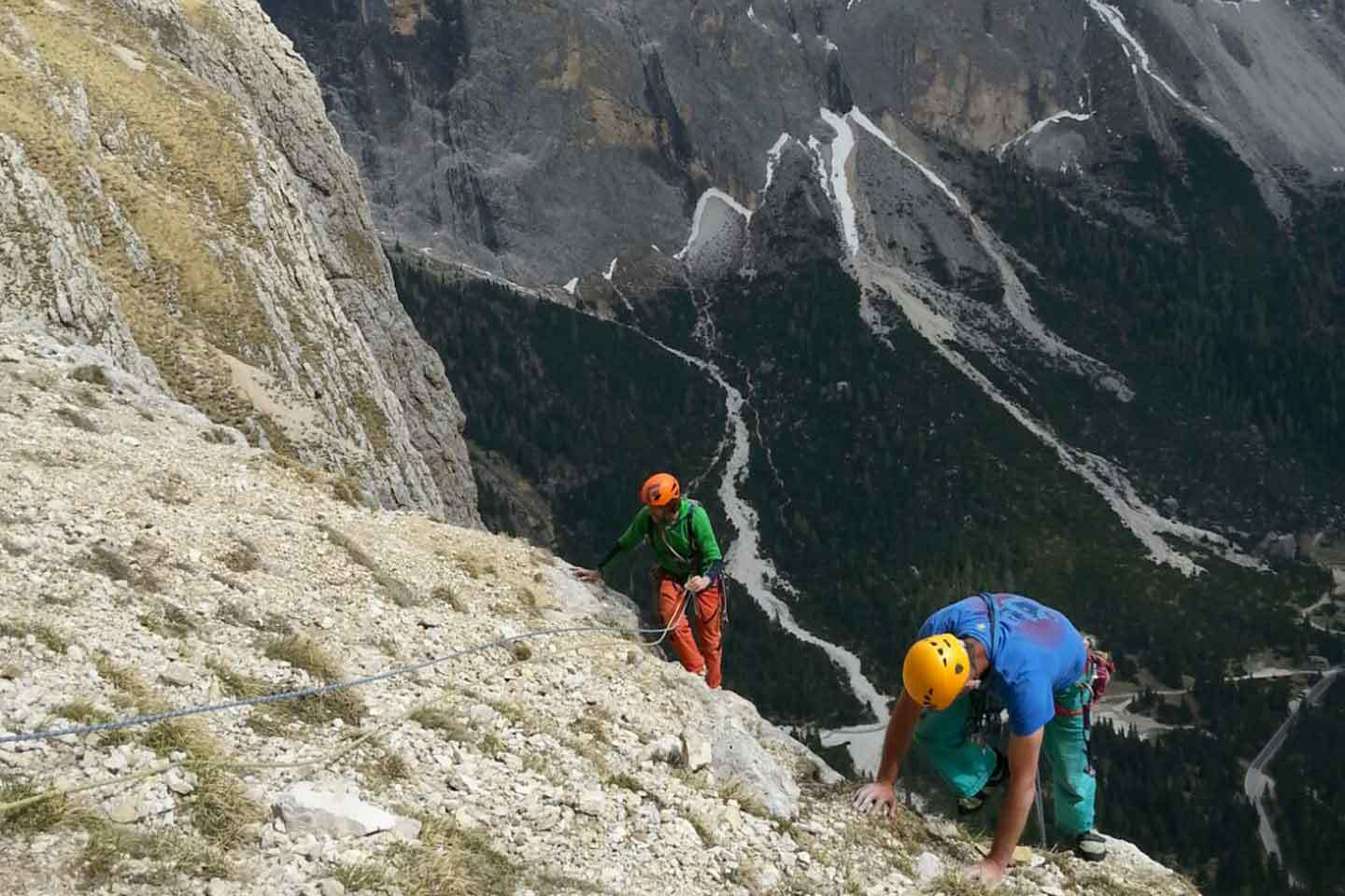 Schubert Climbing Route to Piz Ciavazes in the Sella Group