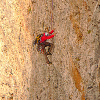 Spigolo Giallo Climbing Route to the Cima Piccola di Lavaredo
