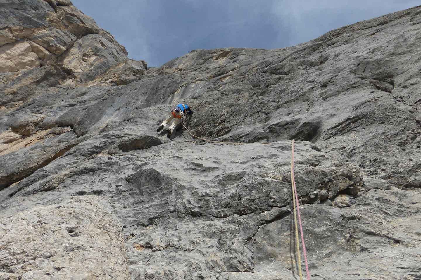 Tempi Moderni Climbing Route in Marmolada - Bruno Pederiva Mountain Guide
