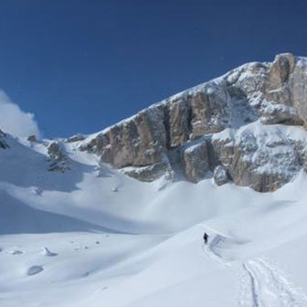Ski Mountaineering to Punta Vallaccia in Val di Fassa